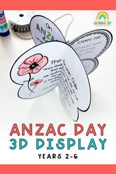 Want a meaningful lesson for your students about Anzac Day? Want a lesson that could be complete in an afternoon? Want a purposeful display of your students learning about Anzac Day? Look no further. This 3D poppy display allows students to discuss the importance of Anzac Day and delve into the history and meaning of the day. Finishing up with a gorgeous display to place in your classroom, hallway or assembly hall. Primary Classroom, Primary School, Teaching Resources, Teaching Ideas, Rainbow Sky, Anzac Day, Australian Curriculum, Remembrance Day, Student Learning