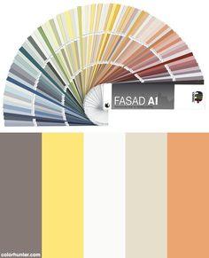 Fasad A1 - Färgkarta För Putsfasader Color Scheme