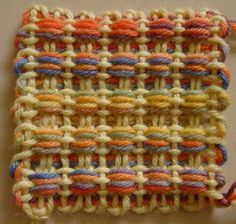 Catching Up with The Square Deal Weave-Along   Mostly Knitting Blog