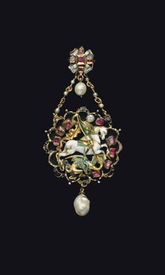 A CONTINENTAL GOLD, ENAMEL, AND GEM-SET PENDANT - 17TH CENTURY WITH LATER ADDITIONS. | Christie's