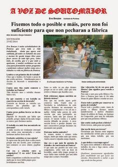 Entrevista a uns ex-traballadores/as da fábrica da Pontesa. Lingua Galega. CPI Manuel Padín Truiteiro de Soutomaior.