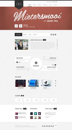 Enia Web Design Layout