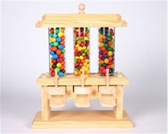 This Candy Machine is for the candy lover in your life. It will hold 3 different flavors of candy or all the same kind. Our Candy Machine Woodworking Plan will make sure you never run out.
