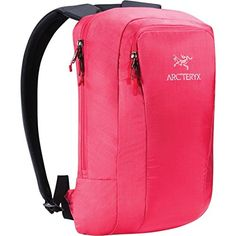 Arcteryx Cambie Backpack Pink Guava 12L. Top loading main compartment holds digital tools, books, jackets, lunch. Padded internal compartment holds and protects laptops up to 13 inches. Front organizer pocket with phone slot, zippered security pocket and key clip carries smaller items. Padded back panel adds protection and comfort Padded top handle integrated in the shoulder strap for a secure grip. Weather resistant, hardwearing, coated nylon fabric.