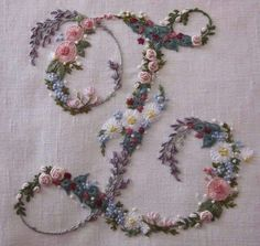 "♒ Enchanting Embroidery ♒ embroidered initial ""L"""
