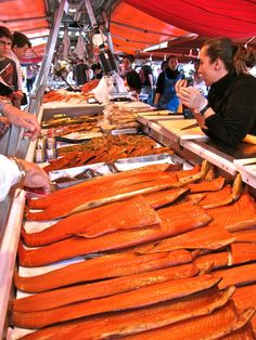 Salmon Anyone? The fish market in Bergen, Norway!