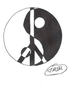 Ying Yang Peace Sign Tattoo by ~MidnightsMisery on deviantART