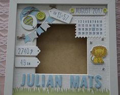 Godfather Gifts, Baby Frame, Small Letters, Baptism Gifts, Room Pictures, Baby Room Decor, Stampin Up, Birth, Personalized Gifts