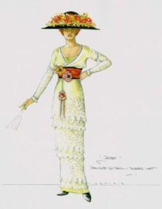 Tea dress design by Deborah L Scott to be worn by Kate Winslet in Titanic (1997)