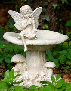 Image detail for -Fairy Bird Bath - Garden Ornaments Direct Bird Baths