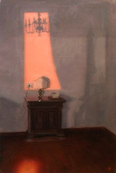 ◇ Artful Interiors ◇ paintings of beautiful rooms - Rebecca Sharp | Pink Window of Time