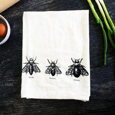 Bee Trio Kitchen Towel Set Of 2