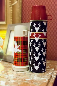 Vintage Deer Thermos. Make It Now in Cricut Design Space