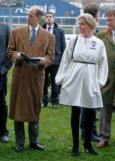 Prince Edward Earl of Wessex and Sophie Countess of Wessex attend the Christmas Racing Meet at Ascot Racecourse on December 17 2016 in Ascot England
