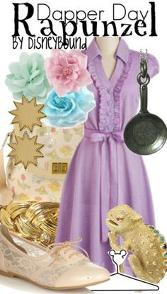Cute Rapunzel Disney bound outfit I want a dress similar to this @Simi Surma. It would be perfect don't you think?