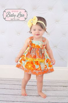 Apron Knot Dress, Vintage Rose  6M-4T, 5,6,7 Girls Boutique Clothing, Floral,  Birthday, Special Occasion, Party, Photography, Easter