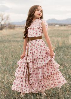 Caroline Maxi Dress in Vintage Floral Little Girl Dresses Caroline Dress Floral Maxi Vintage Girls Maxi Dresses, Baby Girl Dresses, Dress Outfits, Girl Outfits, Cute Little Girl Dresses, Toddler Outfits, Toddler Girls, Baby Dress, Prom Dress