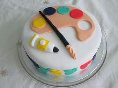 Artist cake made for grandaughter.