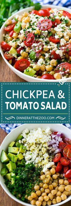 Chickpea Salad Recipe | Chickpea and Tomato Salad | Chickpea Avocado Salad | Summer Salad #salad #summer #recipes #dinneratthezoo
