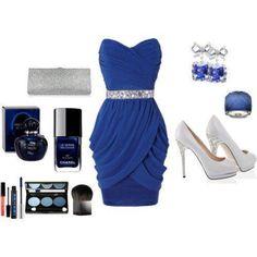 Elegant blue #dress, www.lolomoda.com