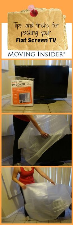 Tips and tricks for #packing your #FlatScreenTV! #MovingInsiderTips