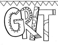 perseverance coloring pages | Character Ed - Perseverance Coloring Page | Advisory ...