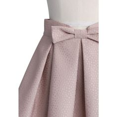 Chicwish Sweet Your Heart Bowknot Pleated Mini Skirt in Pink (150 BRL) ❤ liked on Polyvore featuring skirts, mini skirts, short brown skirt, short skirts, brown pleated skirt, pink miniskirt and pleated mini skirt