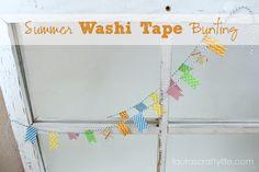 summer washi tape bunting