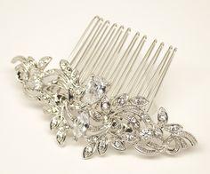 "Hair Comes the Bride - Small Vintage Rhinestone Bridal Hair Comb ~ ""Katrina"", $37.00 (http://www.haircomesthebride.com/small-vintage-rhinestone-bridal-hair-comb-katrina/)"