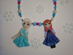Frozen Elsa and Anna Sisters Necklace