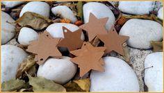 Etiquetas estrella de papel craft tostado (6 cms X 6 cms). Pedidos y catálogo: detallisime@yahoo.es