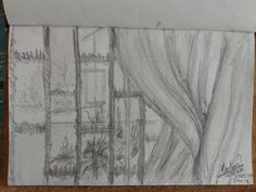 Through the window. Everyday Drawing Challenge in less than 30mim. Day 18