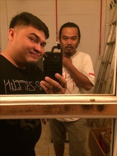 Me, mirror and friend
