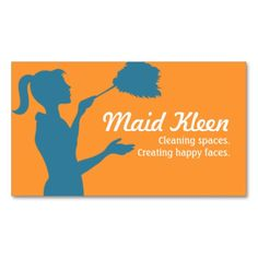 Cleaning service logo customized with your business name house cleaning housekeeper maid business card fbccfo Gallery