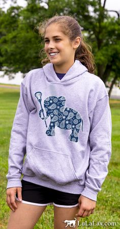 These lacrosse lifestyle sweatshirts are perfect for any lax girl! Only from LuLaLax!