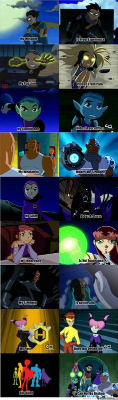 I saw this done with Avatar: The Last Airbender and I couldn't help myself. I love The Teen Titans and I thought this ended up perfect. I know it's not Fanfiction like I normally do but maybe it wi...