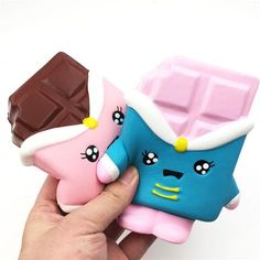 Super Slow Rising SCENTED SquishyFun Premium Kawaii Squishy Chocolate Bar - Kawaii Squishies look so real you might want to eat them, but don't! Squish it instead and build your collection. Squishy Store, Balle Anti Stress, Kawaii Plush, Squishy Kawaii, Slime And Squishy, Cute Squishies, Lego, Minnie, Plushies