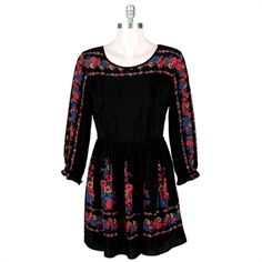 Free People Women's Contemporary Printed Viscose Rayon Age of Aquarius Dress