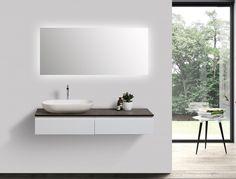 Ensemble de salle de bain Vision 1200 blanc mat - miroir et vasque en option acheter en ligne