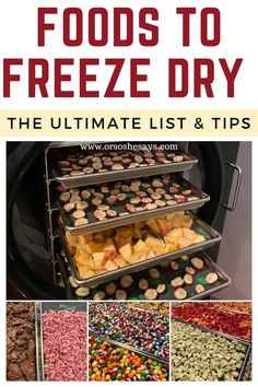 Best Freeze Dried Food, Freeze Dried Fruit, Freeze Drying Food, Freeze Dried Meals, Emergency Preparedness Food, Survival Food, Harvest Right Freeze Dryer, Canning Food Preservation, Preserving Food