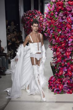 """Paloma Spain's show at men's fashion week cemented what we were all already thinking: Alejandro Gomez Palomo androgynous genius is revolutionizing menswear and, let's face it, women's wear too.  The 24 year-old, who told Vogue in an interview last month that he works with """"materials that are usually..."""