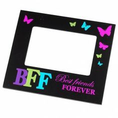 With fun slogans. Christmas Presents For Her, Christmas Goodies, Wooden Picture Frames, Friends Forever, Slogan, Compliments, Bff, Awesome, Board