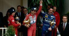 Ayrton Senna com Nigel Mansell - Monaco GP