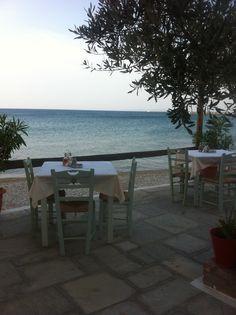 Taverne in Ireon Samos, Outdoor Tables, Outdoor Decor, Bar, Outdoor Furniture, Home Decor, Homemade Home Decor, Decoration Home, Patio Table