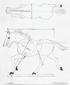 #2113 Carving Horse - Wood Carving