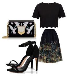 """Untitled #42"" by jaasmina-86 ❤ liked on Polyvore featuring Ted Baker, Boohoo and Jimmy Choo"