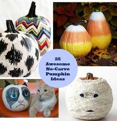 25 Awesome No Carve Pumpkin Ideas