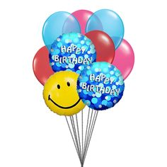 Special birthday balloons: The best way to wish happy birthday will be by sending special happy #birthday #Balloons and #smiley Balloon.