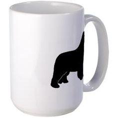 Black Newfoundland Dog Large Mug > Black Newfoundland Dog > Kanweienea Kreations
