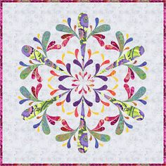 Icy Applique Quilt PDF Pattern